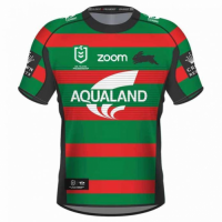 2021 South Sydney Rabbitohs Home Green&Red Rugby Jersey Shirt