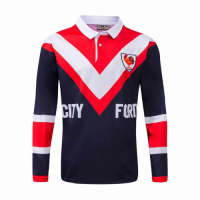1976 Sydney Roosters Rugby Retro Ml Long Sleeve Polo Shirt