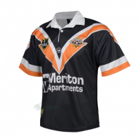 1998 Wests Tigers Retro Rugby Black Jersey Shirt