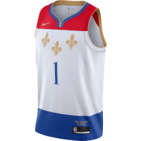 Men's New Orleans Pelicans Zion Williamson Nike White 2020/21 Swingman Jersey - City Edition