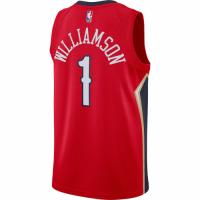 Men's New Orleans Pelicans Zion Williamson #1 Jordan Brand Red 20/21 Jersey-Statement Edition
