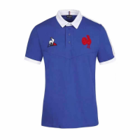 2021 France Rugby Blue Polo Shirt