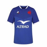 20-21 France Home Blue Rugby Jersey Shirt