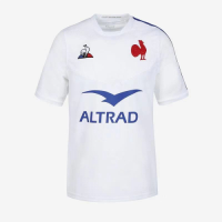 20-21 France Away White Rugby Jersey Shirt