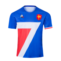 2020 France Home Blue Rugby Jersey Shirt