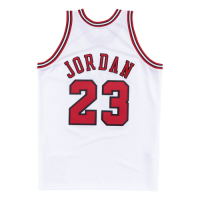 Men's Chicago Bulls Michael Jordan #23 Mitchell & Ness White 1997-98 Hardwood Classics Player Jersey