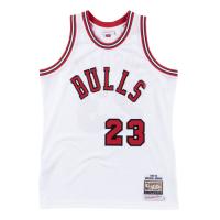 Men's Chicago Bulls Michael Jordan #23 Mitchell & Ness White 1984-85 Hardwood Classics Player Jersey