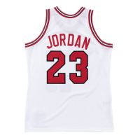 Men's Chicago Bulls Michael Jordan #23 Mitchell & Ness White 1984-85 Hardwood Classics Player Jersey
