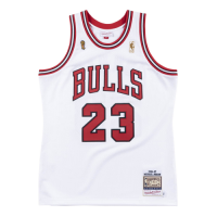 Men's Chicago Bulls Michael Jordan #23 Mitchell & Ness White 1996-97 Hardwood Classics Player Jersey