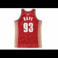 BAPE x Mitchell & Ness Cleveland Cavaliers ABC Red Basketball Swingman Jersey