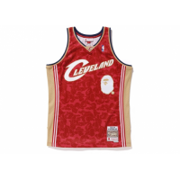 BAPE x Mitchell & Ness Cleveland Cavaliers ABC Red Basketball Swingman Jersey