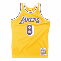 Men's Los Angeles Lakers Kobe Bryant #8 Mitchell & Ness Yellow 1996-97 Hardwood Classics Jersey