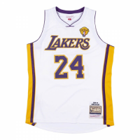 Men's Los Angeles Lakers Kobe Bryant #24 Mitchell & Ness White 2009-10 Hardwood Classics Jersey