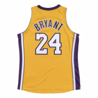 Men's Los Angeles Lakers Finals Kobe Bryant #24 Mitchell&Ness Yellow 08-09 Hardwood Classics Jersey