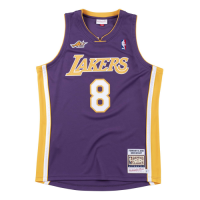 Men's Los Angeles Lakers Kobe Bryant #8 Mitchell&Ness Purple 00-01 Hardwood Classics Jersey