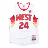 Men's All-Star West 2009 Kobe Bryant #24 Mitchell&Ness White Hardwood Classics Jersey