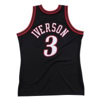 Men's Philadelphia 76ers Allen Iverson #3 Mitchell & Ness Black 1997-98 Hardwood Classics Jersey