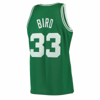 Men's Boston Celtics Larry Bird #33 Mitchell & Ness Green 1985-86 Hardwood Classics Swingman Jersey