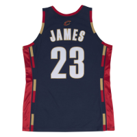 Men's Cleveland Cavaliers LeBron James #23 Mitchell & Ness Navy 2008-09 Hardwood Classics Jersey