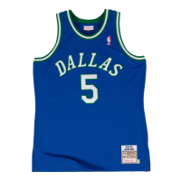 Men's Dallas Mavericks Jason Kidd #5 Mitchell & Ness Blue 1994-95 Hardwood Classics Jersey