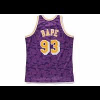 BAPE x Mitchell & Ness Lakers ABC Purple Basketball Swingman Jersey