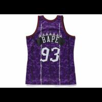 BAPE x Mitchell & Ness Raptors ABC Purple Camo Basketball Swingman Jersey