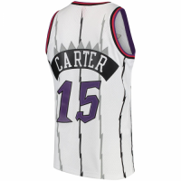 Men's Toronto Raptors Vince Carter #15 Mitchell&Ness White 1998-99 Hardwood Classics Swingman Jersey