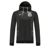 SC Corinthians 21/22 Windbreaker Hoodie Jacket Black