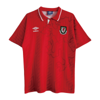 Wales Soccer Jersey Home Retro Replica 92/94