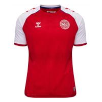 2021 Denmark Home Red Soccer Jersey Shirt