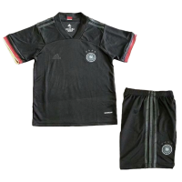 Kids Germany Away Soccer Jersey Kit(Shirt+Short) Black 2021