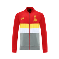 21/22 Liverpool Red High Neck Collar Training Jacket