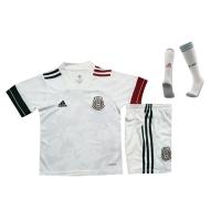 Mexico Kids Soccer Jersey Away Whole Kit (Shirt+Short+Socks) 2020