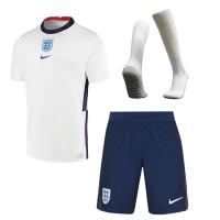 England Soccer Jersey Home Whole Kit (Shirt+Short+Socks) Replica 2021