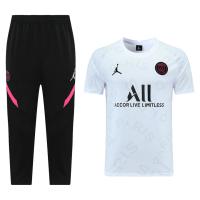 Jordan PSG 21/22 Training Kit Shirt & 3/4 Pants White