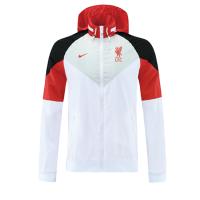 Liverpool 21/22 Windbreaker Hoodie Jacket White