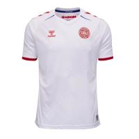 2021 Denmark Away White Soccer Jersey Shirt