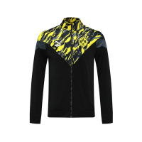 21/22 Borussia Dortmund Black High Neck Collar Training Jacket
