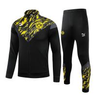 Borussia Dortmund Training Kit (Jacket+Pants) High Neck Collar Black 2021/22
