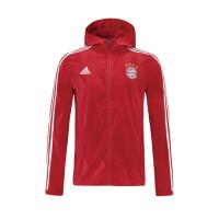 Bayern Munich 21/22 Windbreaker Hoodie Jacket Red
