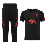 21/22 Liverpool Black Training Kit(Shirt+3/4 Pants)