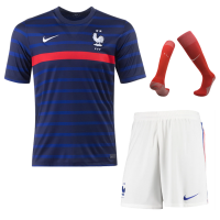 2020 France Home Soccer Jersey Whole Kit(Shirt+Short+Socks)