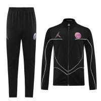 PSG Jordan Training Kit (Jacket+Pants) High Neck Collar Black 2021/22