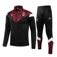 AC Milan Kid's Training Kit (Jacket+Pants) High Neck Collar Black&Red 2021/22