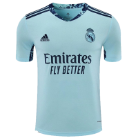 Real Madrid Soccer Jesrey Goalkeeper Blue Replica 2020/21
