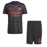 Arsenal Adidas×424 Black Soccer Jerseys Kit(Shirt+Short)