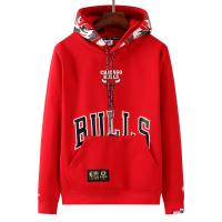 Men's Aape x Chicago Bulls Red Hoodie