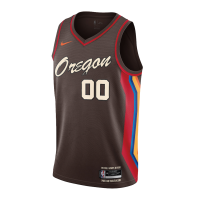 Men's Portland Trail Blazers Nike Brown 2020/21 Swingman Custom NBA Jersey - City Edition