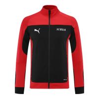 21/22 AC Milan Black&Red High Neck Collar Training Jacket