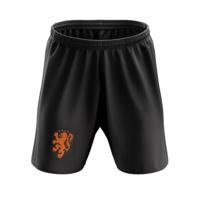 2020 Netherlands Away Black Soccer Jersey Short
